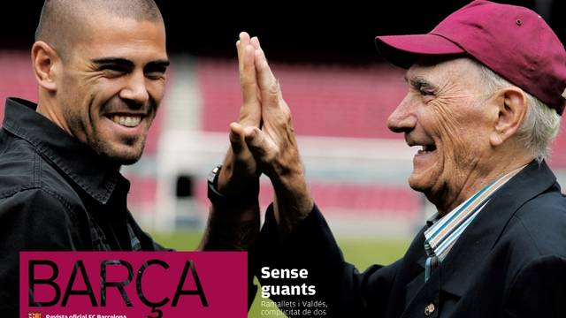 Revista Barça cover with Ramallets and Valdés (October and November 2010)