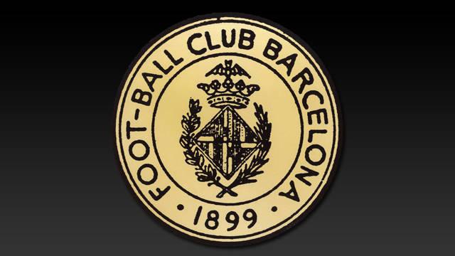 Imagen del primer escudo que tiene el Club, que es el mismo de Barcelona