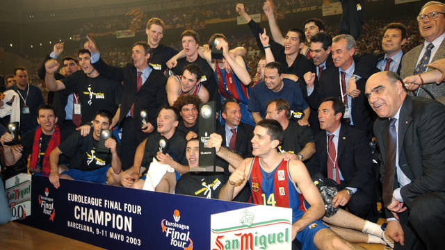 2003. Barça's First Euroleague Basketball Title