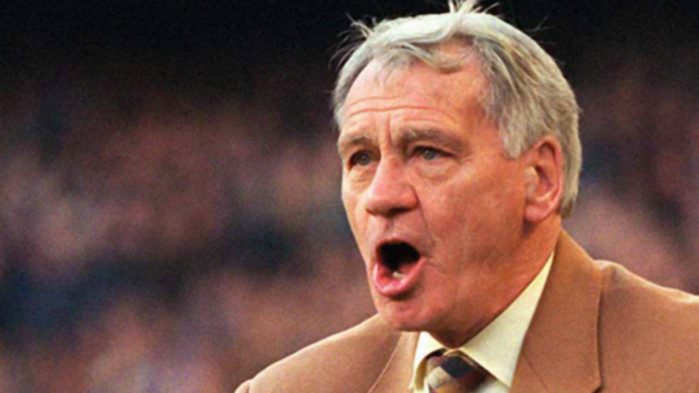 Photo of  Bobby Robson shouting orders at his players