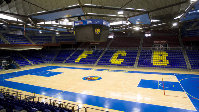 General view of the empty Palau Blaugrana