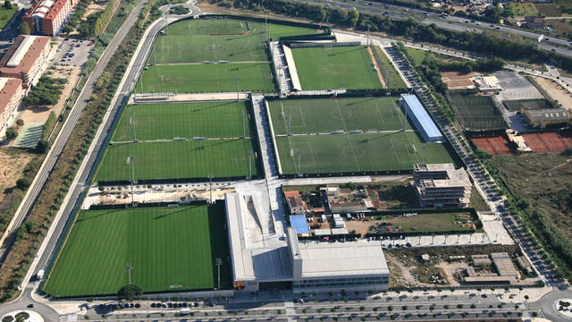 Aerial view of the Ciutat Esportiva Joan Gamper