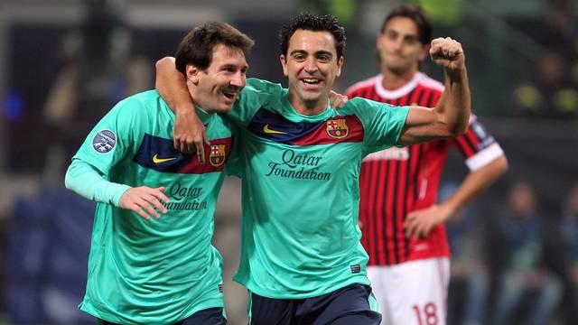 Messi i Xavi, a San Siro / FOTO: MIGUEL RUIZ - FCB