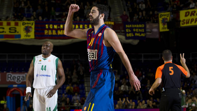 Navarro, lors de son record de point sen Euroligue. PHOTO: LEX CAPARRS-FCB.