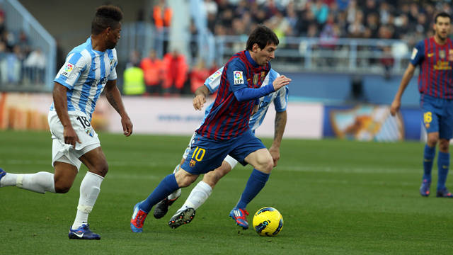 Messi against Málaga / PHOTO: MIGUEL RUIZ - FCB
