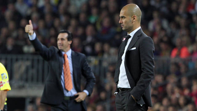 Guardiola and Emery / PHOTO: ARCHIVE FCB