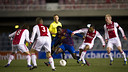 The FCB and Ajax youth teams met in February 2011 / PHOTO: ARXIU - FCB