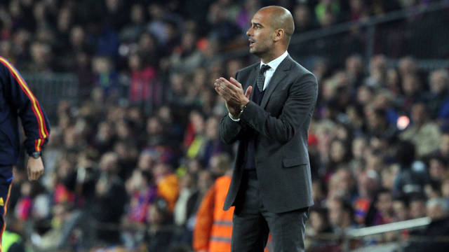 Guardiola during the match against Getafe / PHOTO: MIGUEL RUIZ - FCB