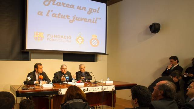 Acte de presentaci de l'acord amb Critas / FOTO: GERMN PARGA - FCB
