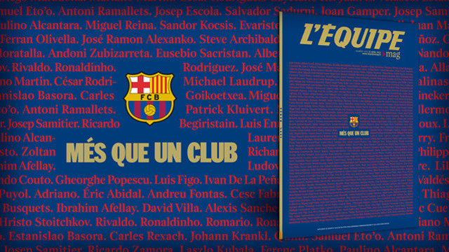 'L'Équipe Magazine' will publish a special edition dedicated solely to FC Barcelona