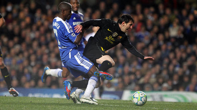 Messi, in Stamford Bridge / PHOTO: MIGUEL RUIZ - FCB