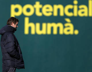 Tito Vilanova, en un entrenament / FOTO: ARXIU FCB