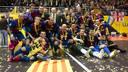Barça Alusport with the team's first European crown/ PHOTO: ÀLEX CAPARRÓS-FCB