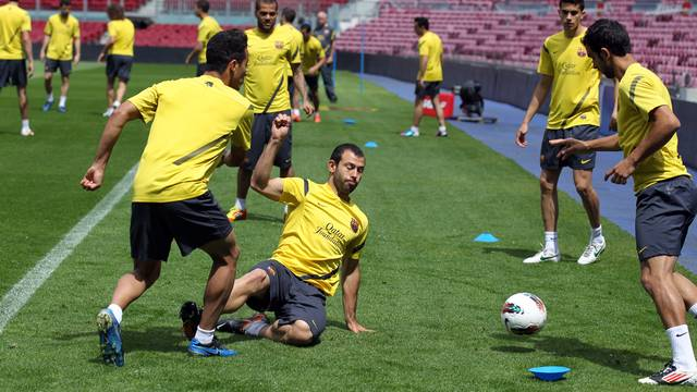 Last training session at the Camp Nou. PHOTO: MIGUEL RUIZ-FCB.