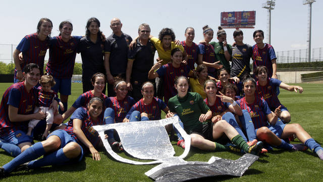 The FC Barcelona Women's Team win the first Liga in the Club's history / PHOTO: Miguel Ruiz - FCB