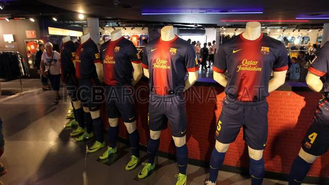 New kit 2012/13 on sale / PHOTO: MIGUEL RUIZ - FCB