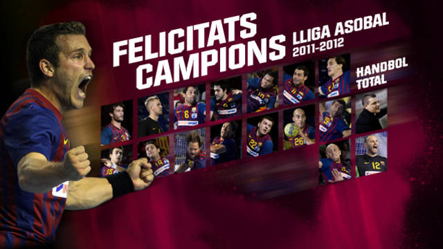 Barça Intersport champions of the Liga Asobal