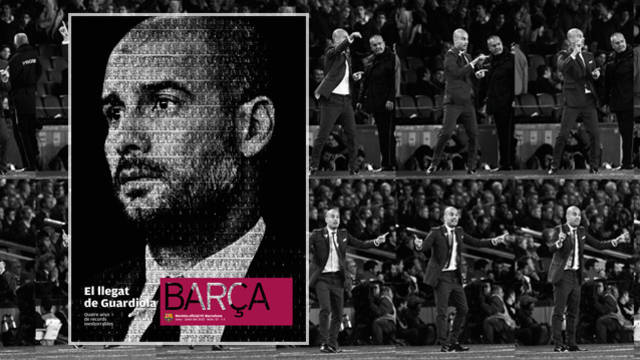 Front of the REVISTA BARÇA dedicated to Guardiola.