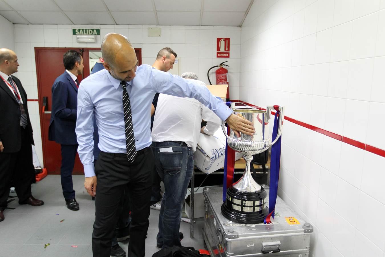 Guardiola acaricia la Copa