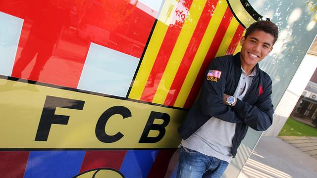 Jonathan dos Santos reflects on his season with Barça B and how he's felt playing with the first team / PHOTO: ARCHIVE FCB