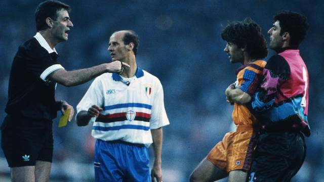 Lombardo, Bakero i Pagliuca, a Wembley. FOTO: Mark Leech.