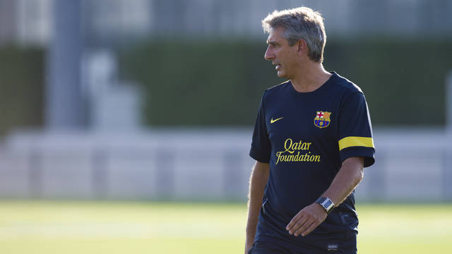 Jordi Vinyals, manager of the Juvenil A team / PHOTO: LEX CAPARRS - FCB
