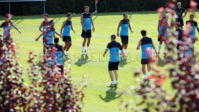 Training session 7-8-12. FOTO: MIGUEL RUIZ-FCB.