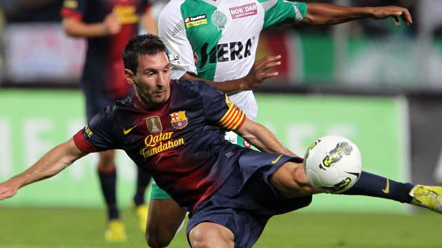 Messi davant el Raja / FOTO: MIGUEL RUIZ - FCB