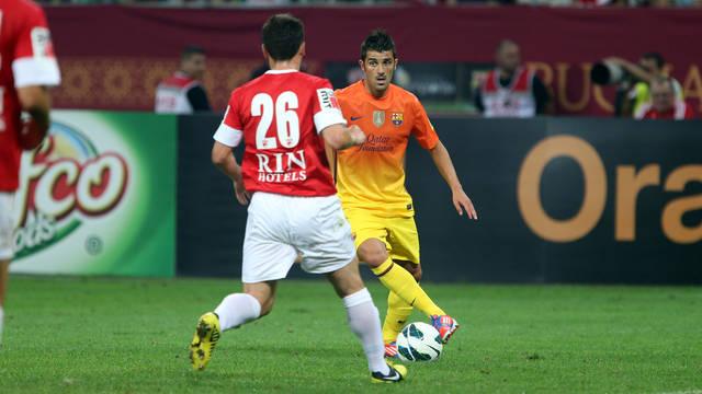 David Villa against Dinamo / PHOTO: Miguel Ruiz - FCB