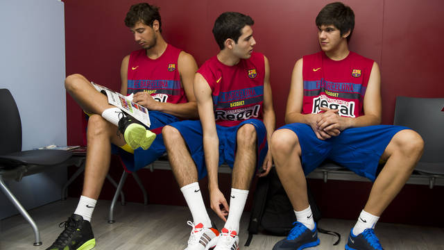 Tomic, Abrines and Todorovic. PHOTO: LEX CAPARRS-FCB.