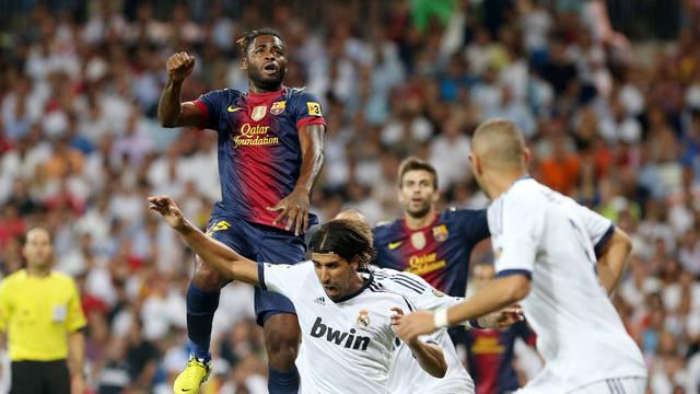 Alex Song at the Bernabéu / PHOTO: MIGUEL RUIZ - FCB