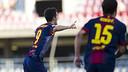 Luis Alberto ha estat l'autor del gol blaugrana / FOTO: ARXIU FCB