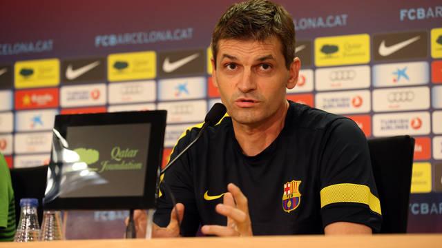 Tito Vilanova ha atès els mitjans abans de rebre dissabte el Granada / FOTO: MIGUEL RUIZ - FCB