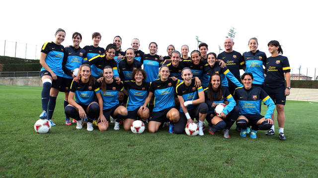 FCB Women's team to debut in the Champions League /  PHOTO: MIGUEL RUIZ - FCB