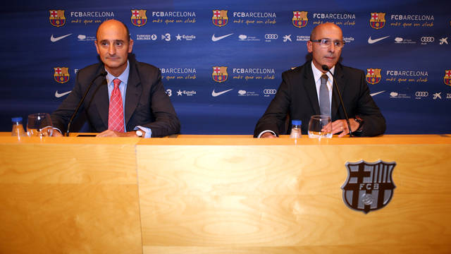 Moix and Bladé. PHOTO: MIGUEL RUIZ-FCB.