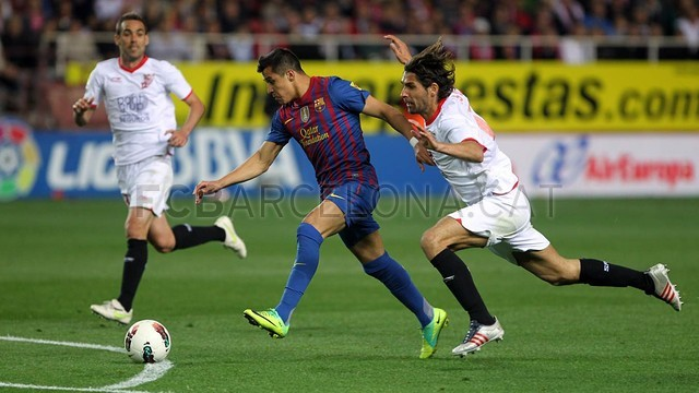 Alexis against Sevilla / PHOTO: ARCHIVE FCB