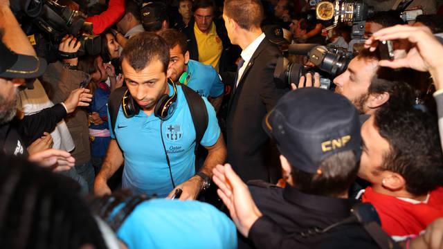 Barça arrive in Seville / PHOTO: MIGUEL RUIZ - FCB