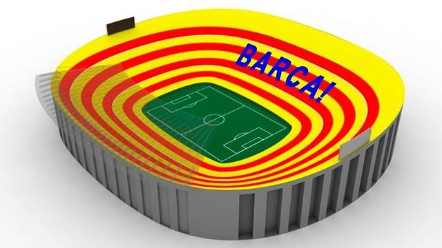 Així serà el mosaic de diumenge al Camp Nou
