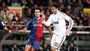 Xavi and Higuaín / PHOTO: ARXIU FCB
