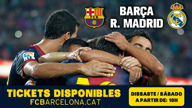 FC Barcelona – Real Madrid: Saturday, tickets to go on sale to the public