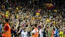 Barça fans during a Barça-Madrid match at the Camp Nou / PHOTO: FCB ARCHIVE