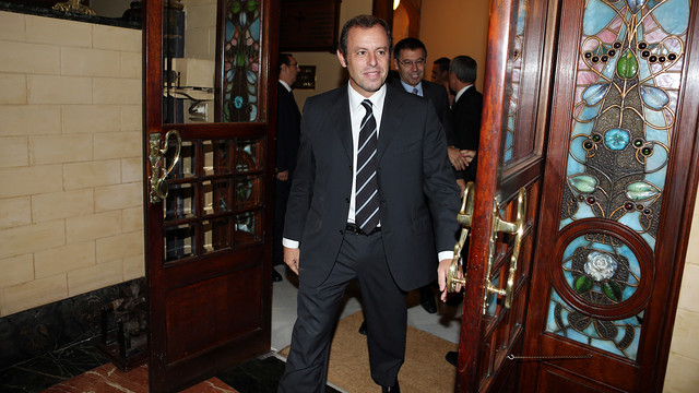Rosell arrives to Liceu / PHOTO: MIGUEL RUIZ-FCB