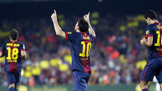Messi celebrates his goal against Real Madrid / PHOTO: MIGUEL RUIZ