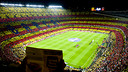 Mosaic at the Camp Nou before the clásico in 2012/13 / PHOTO: ÁLEX CAPARRÓS - FCB