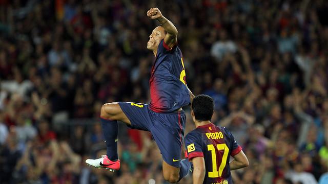 Adriano against València / FOTO: ARXIU FCB