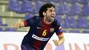 Juanín, autor de l'últim gol que ha donat la victòria al Barça Intersport / FOTO: MIGUEL RUIZ - FCB