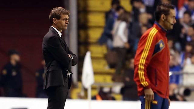 Tito Vilanova, en el transcurs del partit contra el Deportivo/ FOTO: MIGUEL RUIZ - FCB