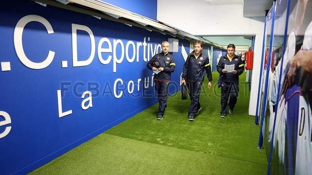 The other side of the match at Riazor / PHOTO: MIGUEL RUIZ - FCB