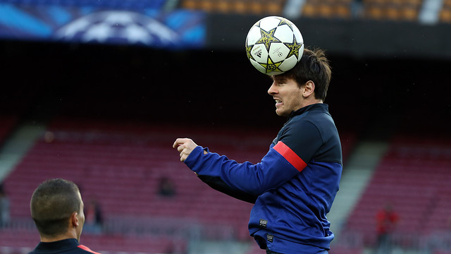 Leo Messi training at the Camp Nou / PHOTO: MIGUEL RUIZ - FCB