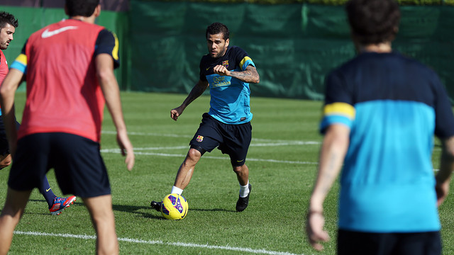 Alves. PHOTO: MIGUEL RUIZ-FCB.